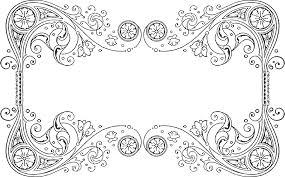 ornament picture frames art border filigree png