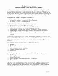 Sample Graduate School Resume Resume Graduate School Sample Luxury Resume Sample College Student 12