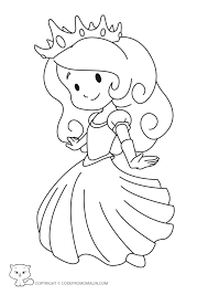 Coloriage Facile Princesse