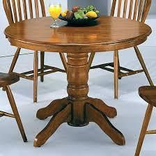 oak pedestal table antique inch