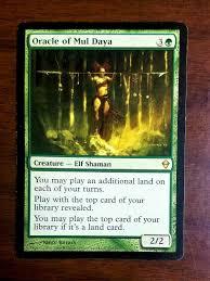 Magic The Gathering Light Oracle Of Mul Daya Zendikar Magic Mtg Light Play Green Elf