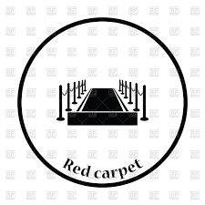 carpet clipart black and white. red carpet icon vector clipart clipart black and white