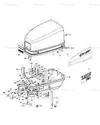 Mercury chrysler outboard parts by hp model 7 5hp oem parts diagram for engine cover and support plate boats