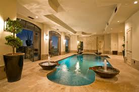 home indoor pool with bar. Newly Built Hillside Estate In Paradise Valley, AZ Home Indoor Pool With Bar 3