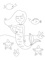 Save these cute mermaid coloring pages for a day when you and the kids need a few moments of calm. Free Printable Mermaid Coloring Pages Parents