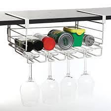 Metal wine glass rack Hanging Modern White Metal Under Shelf Hanging Kitchen Storage Basket Organizer Rack Stemware Wine Glass Holder Great Bartender Crate And Barrel Modern White Metal Under Shelf Hanging Kitchen Storage Basket