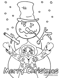 Small Picture Snowman made by a little girl coloring pages Hellokidscom