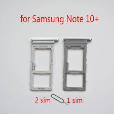 Khay Sim Thẻ SD Cho Samsung Note 10 + N975 Galaxy Note10 + Lưu Ý 10 Plus  Chính Hãng Điện Thoại Nhà Ở thẻ Nhớ Micro SD Khe Cắm Adapter|SIM Card  Adapters