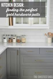 black cabinet pulls on gray cabinets. here\u0027s how we found the perfect gold hardware pulls for our kitchen black cabinet on gray cabinets