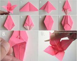 How To Make Origami Paper Flower Easy Origami Flower With One Piece Of Paper Magdalene