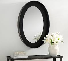 black oval frame wall mirror