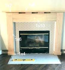 tile fireplace surround ideas best for on white gas