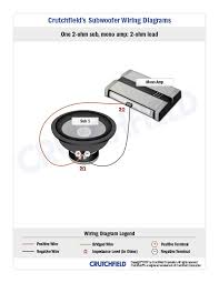 subwoofer wiring diagrams one subwoofer 1 svc 2 ohm mono