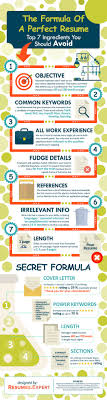 The Formula Of A Perfect Resume Infographic Career Resume Job