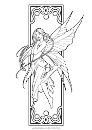 Small Picture Fantasy coloring pages for adults to download and print for free