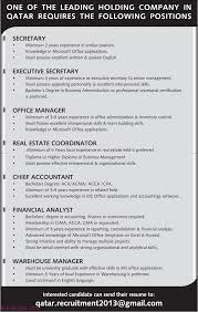 Warehouse Manager Financial Analyst Chief Accountant Office