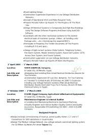 Mechanical Design Engineer Sample Resume Experience Mechanical