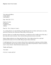 Acting Cover Letter Sample. Amazing Actors Resume Example With ...