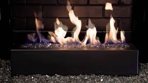 fireplace glass rocks modern