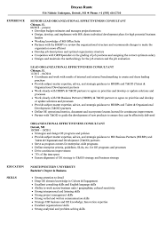 Resume Organizational Skills Examples Organizational Effectiveness Consultant Resume Samples Velvet Jobs 20