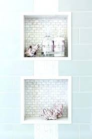 tile redi shower niche reviews up to off bathroom height blue subway tiles frame two white