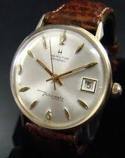 mens vintage solid gold watch vtg mens solid 14k gold hamilton masterpiece thin o matic automatic watch swiss