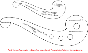 large templates pca templates french curves craft supplies