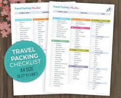 A4 Travel Planner Checklist Vacation Organizer Holiday Etsy