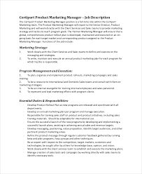 Marketing Officer Job Description Amazing 48 Marketing Job Descriptions Free Sample Example Format Free
