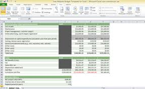 software development project budget template free website budget template for excel