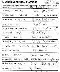 worksheets classification of chemical reactions worksheet worksheets classifying chemical reactions worksheet answers with reviveserum com com