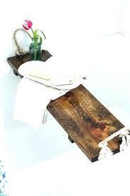 bathtub wood wooden free plans bath tub tray tutorial caddy clawfoot shower