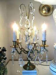 crystal chandelier table lamp with crystals antique french brass candelabra lamps ier