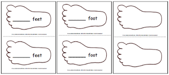 Small Picture Printable Feet Template Pattern A to Z Teacher Stuff Printable