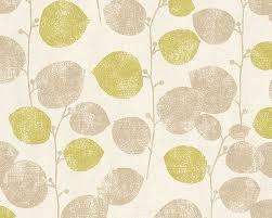 Schöner Wohnen 7 Tapete Vlies grün creme Floral 958692