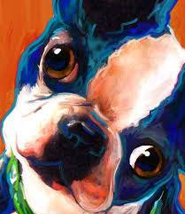 boston terrier puppy boston terrier art