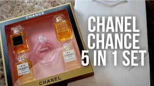 chanel 5 gift set. chance chanel 5 in 1 perfume set from lazada gift