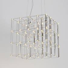 modern led chandelier light stainless steel 90 240v lamp for living room hotel loft lighting