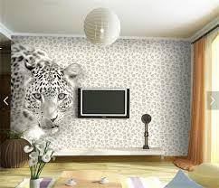 Leopard Wallpaper For Bedrooms Aliexpresscom Buy Custom Photo Wallpaper 3d Wallpaper Leopard