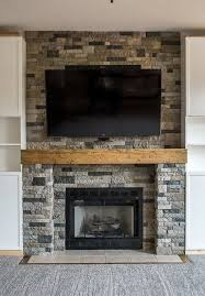 airstone fireplace surround fireplace makeover ideas living room decorating ideas