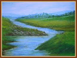 oil pastel a quiet place
