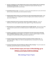 microbiology project topics for students 3