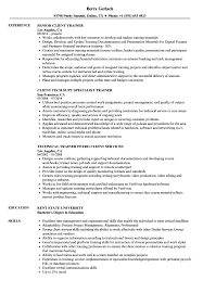 Trainer Resume Sample Client Trainer Resume Samples Velvet Jobs 12
