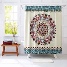better homes and gardens medallion fabric shower curtain with measurements 2000 x 2000
