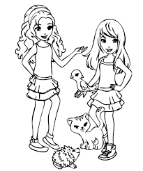 Small Picture Lego Friends Mia Coloring Pages Lego Friends Coloring Pages In