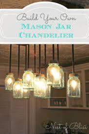 build it diy mason jar chandelier from nest of bliss mason diy