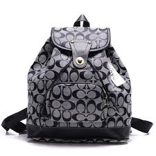 Coach Classic In Signature Medium Grey Backpacks 51139
