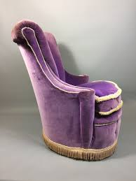 Purple Bedroom Chair Purple Velvet Upholstered Boudoir Bedroom Chair Decorative