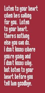 john michael montgomery i can love you like that song lyrics  roxette listen to your heart song lyrics song quotes music lyrics music quotes songs it s definitely in my top 10 all time favorite songs