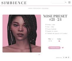 Nose preset #21-24 | simbience on Patreon in 2020 | Sims 4, Sims, Sims 4  mods